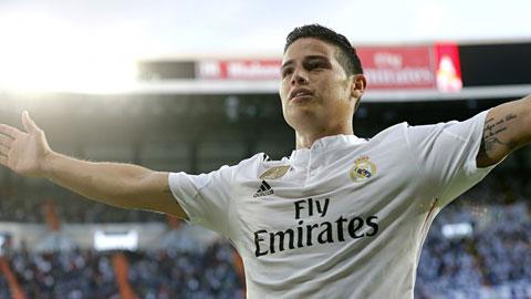 James Rodriguez tiếp tục tỏa sáng giúp Real giành chiến thắng dễ dàng trước Almeria