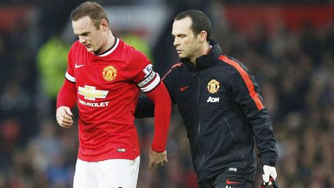 Chấn thương của Rooney cuối tuần qua là ca chấn thương thứ 68 của M.U ở mùa này