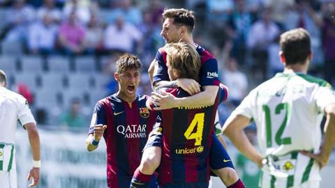 Barca tiễn Cordoba xuống hạng sau màn hủy diệt 8-0