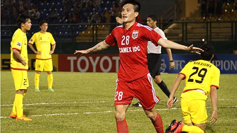 Công Vinh là người ghi bàn thắng duy nhất của trận đấu - Ảnh: Đình Nguyễn