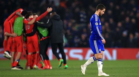 Chelsea bị PSG đá văng khỏi Champions League