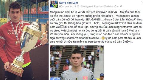 """Cựu thủ môn U19 Việt Nam - Đặng Văn Lâm: """"Hãy cho tôi cơ hội, dù một lần nữa thôi!"""""""
