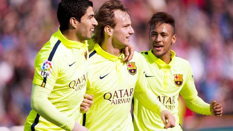 Các tân binh như Rakitic hay Suarez chính là niềm cảm hứng trong chức vô địch của Barca