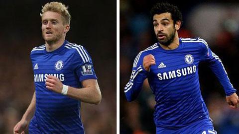 Schuerrle và Salah được mời về dự khán trận cuối của Chelsea
