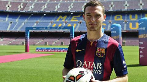 Vermaelen ra mắt Barca ở trận đấu cuối cùng của mùa giải