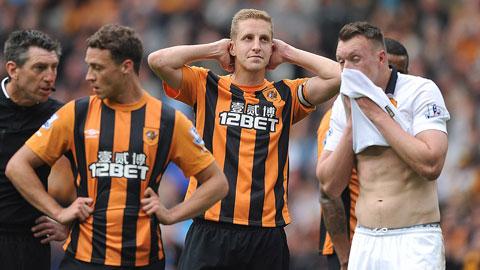 Hull xuống hạng sau trận hòa không bàn thắng với M.U