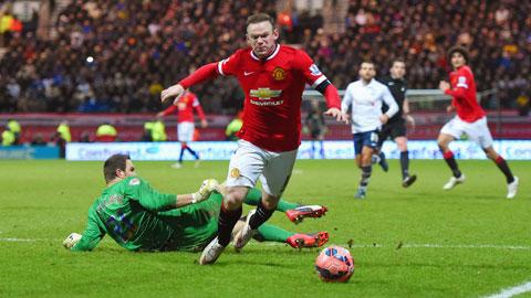 Mùa 2014/15, người ghi bàn nhiều nhất cho M.U là Rooney cũng chỉ có 14 bàn