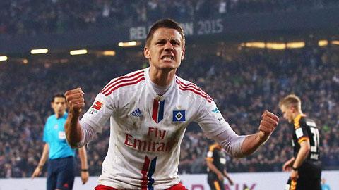 Ilicevic gỡ hòa cho Hamburg