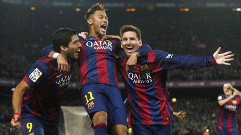 Mùa này, bộ ba M-S-N của Barca có thể xuyên thủng bất cứ hàng thủ nào