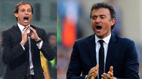 Barca hoặc Juventus nếu vô địch sẽ tạo điều kiện cho HLV của mình được vinh danh là xuất sắc nhất thế giới
