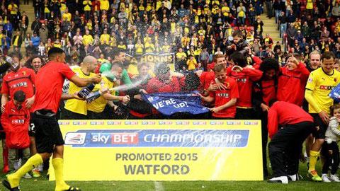 Watford trở lại Premier League sau 9 năm xa cách