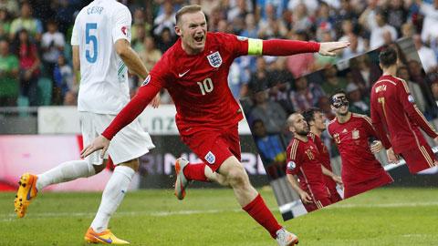 Rooney và Silva là những người mang lại chiến thắng cho ĐT Anh và Tây Ban Nha