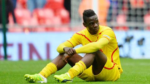 Balotelli mới chỉ ghi được đúng 1 bàn tại Premier League cho Liverpool