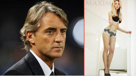 HLV Mancini bỏ vợ theo người mẫu!?