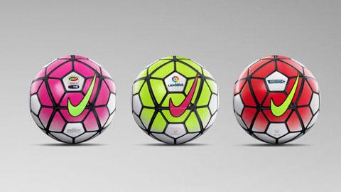 Công bố loại bóng sử dụng ở Premier League, La Liga và Serie A 2015/16