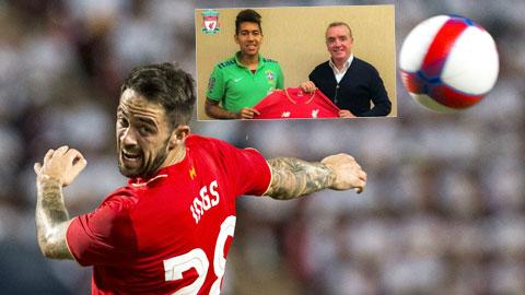 Với những Firmino (ảnh nhỏ) hay Ings, Liverpool có thể sớm quên Sterling