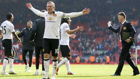 Rooney luôn bùng nổ khi được đá trung phong