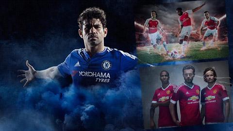 Những mẫu áo đấu bắt mắt của Chelsea, Arsenal và M.U
