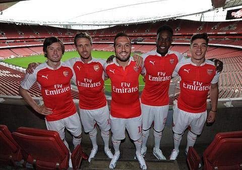 Mẫu áo đấu sân nhà của Arsenal