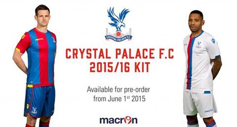 Mẫu áo đấu sân nhà và sân khách của Crystal Palace