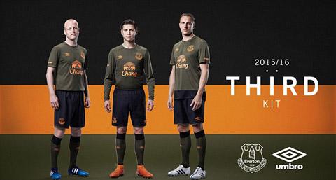 Mẫu áo đấu sân khách thứ 2 của Everton