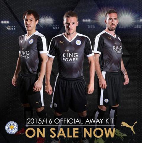 Mẫu áo đấu sân khách của Leicester