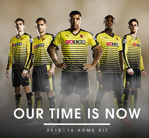 Watford cách tân hoàn toàn mẫu áo đấu sân nhà