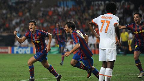 Pedro là người ghi bàn mang về Siêu Cúp châu Âu năm 2009 cho Barca