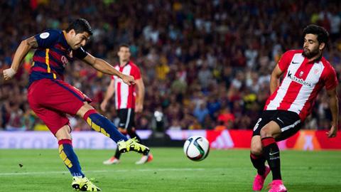 Suarez bất lực trong việc ghi bàn