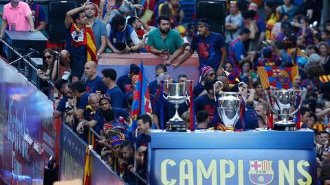 Mùa trước, ngoài chức vô địch Champions League và Cúp Nhà Vua, Barca còn vô địch La Liga với 94 điểm