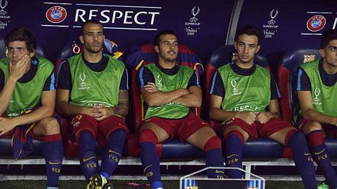 Những cầu thủ dự bị của Barca ở trận tranh siêu cúp châu Âu 2015