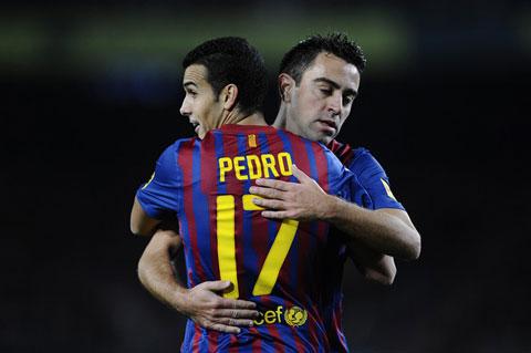 Xavi và Pedro đều đã rời Barca