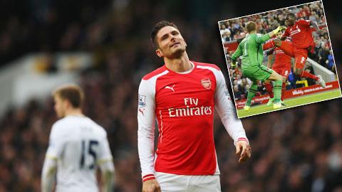 """Cả Arsenal và Liverpool đành phải đặt niềm tin vào các tiền đạo """"tầm tầm"""" là Giroud và Benteke (ảnh nhỏ)"""
