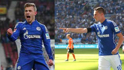 Draxler có thể yên tâm rời Schalke vì đã có Meyer (trái) đủ khả năng thay thế anh