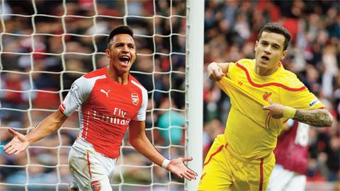 Coutinho và Sanchez đều là những cầu thủ hay nhất của Liverpool và Arsenal mùa trước.