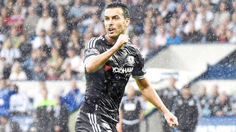 Trong trận gặp West Brom tối Chủ nhật vừa qua, Pedro là ngôi sao sáng nhất