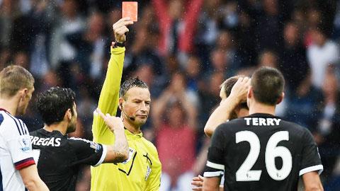 Sau khi John Terry bị truất quyền thi đấu hôm Chủ nhật, Chelsea đã đứng cuối trong BXH fair-play của Premier League, với 2 thẻ đỏ và 4 thẻ vàng