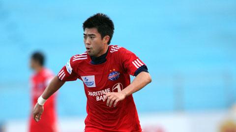 Lee Nguyễn khi còn thi đấu trong màu áo CLB Becamex Bình Dương