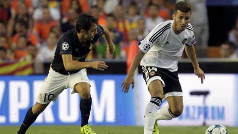Valencia (phải) cho thấy họ vượt trội Monaco về mọi mặt