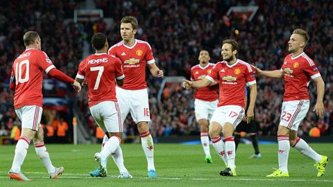Man United ăn mừng chiến thắng