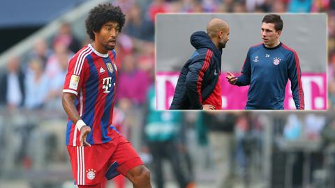 Bayern muốn cho mượn Hojbjerg (ảnh nhỏ), còn Dante rất an toàn với vị trí của mình
