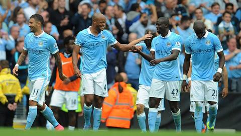 Man City vẫn chưa bị thủng lưới và toàn thắng sau 3 vòng đấu đã qua tại giải Ngoại hạng Anh 2015/16