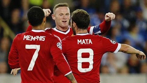 Các cầu thủ M.U đang rất hưng phấn sau chiến thắng 4-0 trước Club Brugge