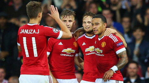 M.U xuất sắc vượt qua vòng play-off Champions League