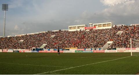 Lần đầu tiên ở V-League, sân Đồng Nai đầy ắp khán giả - Ảnh: Anh Tài