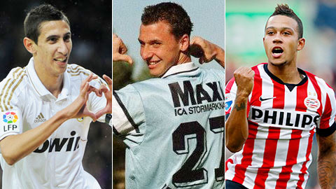 Di Maria, Ibra và Depay thời còn khoác áo Real, Malmo và PSV