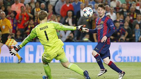 Pha ghi bàn đẹp mắt của Messi