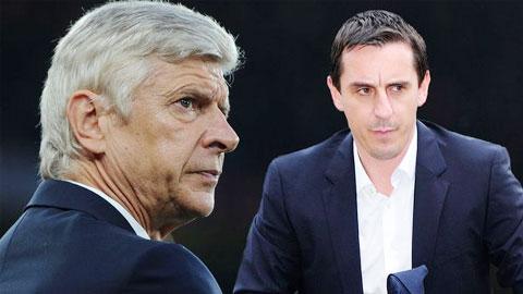 Wenger và Neville từng có nhiều lần bất đồng quan điểm