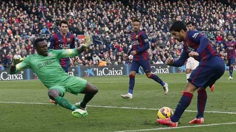 Luis Suarez và đồng đội sẽ dễ dàng bắn hạ Malaga