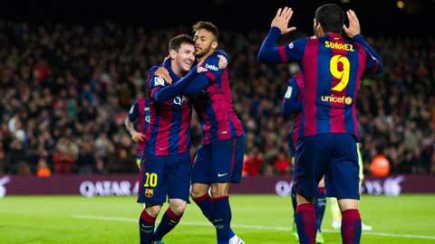 Messi, Suarez và Neymar sẽ khiến hàng thủ Malaga khốn khổ